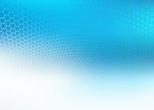 El extracto se descoloró fondo azul del diseño del hexágono Ilustración del Vector