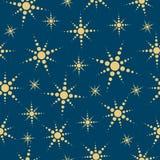 El extracto stars el fondo inconsútil. stock de ilustración