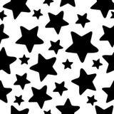 El extracto stars el fondo inconsútil. ilustración del vector