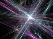 El extracto verde y violeta alinea el fondo de la luz del efecto del fractal Imagen de archivo libre de regalías