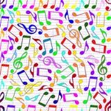 El extraer de notas musicales ilustración del vector