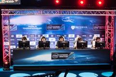 El extremo de Intel domina 2014, Katowice, Polonia Imágenes de archivo libres de regalías