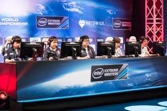 El extremo de Intel domina 2014, Katowice, Polonia Imagenes de archivo