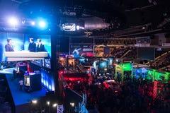 El extremo de Intel domina 2014, Katowice, Polonia Imagen de archivo libre de regalías