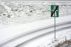 El extremo de la carretera Foto de archivo libre de regalías