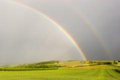 El extremo del arco iris Foto de archivo