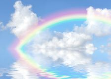 El extremo del arco iris Imágenes de archivo libres de regalías