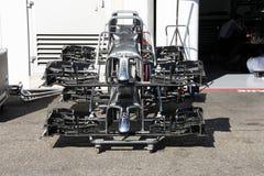 El Fórmula 1 McLaren Mercedes pone - las fotos en un cercado F1 Fotografía de archivo