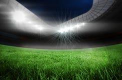 El fútbol campo adentro el estadio grande libre illustration