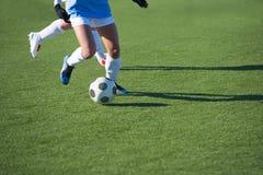 El fútbol de las mujeres Fotos de archivo libres de regalías