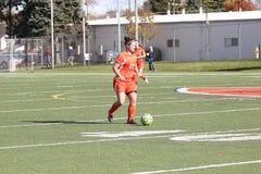 El fútbol de las mujeres del NCAA DIV III de la universidad Foto de archivo