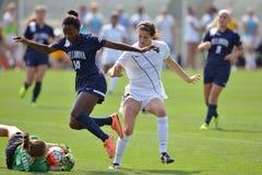 2015 el fútbol de las mujeres del NCAA - Villanova @ WVU Fotografía de archivo libre de regalías