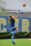 2015 el fútbol de las mujeres del NCAA - Villanova @ WVU Fotos de archivo libres de regalías