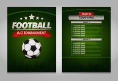 El fútbol del fútbol defiende vector final de la plantilla de la tabla del marcador Imagen de archivo libre de regalías