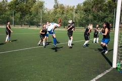 El fútbol del juego de las muchachas, Imagen de archivo