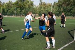 El fútbol del juego de las muchachas, Fotografía de archivo