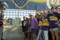 El fútbol es guerra también en la Argentina imagen de archivo