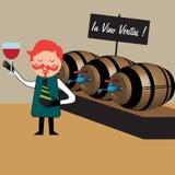 El fabricante de vino ilustración del vector