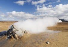 El fango caliente reúne Islandia Escandinavia Europa Fotos de archivo libres de regalías