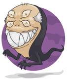 El fantasma envejecido con muchos observa y sonrisa asustadiza con los colmillos, ejemplo del vector ilustración del vector