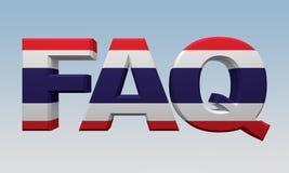 El FAQ de las letras pintó la bandera Tailandia ilustración del vector