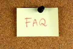El FAQ hizo con frecuencia preguntas Fotos de archivo libres de regalías