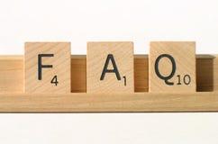 El FAQ hizo con frecuencia preguntas Imagen de archivo