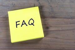 El FAQ hizo con frecuencia preguntas Imagen de archivo libre de regalías