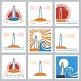 El faro colorea iconos. libre illustration