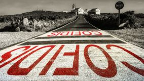 EL Faro Coruna, Spagna del faro fotografia stock libera da diritti