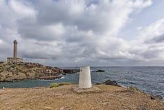 EL Faro de Cabo de Palos Murcia Spain Europe - o farol de Cabo de Palos imagem de stock