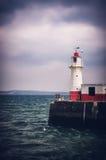 El faro de Newlyn monta la bahía imagen de archivo libre de regalías