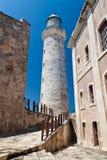 El faro del EL Morro en La Habana, Cuba Foto de archivo
