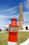 El faro en Cabo Polonio Foto de archivo