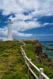 El faro en HIGASHI HENNA Cape, Okinawa Prefecture /Japan Imagen de archivo libre de regalías