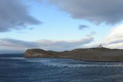 El faro en la isla de Magdalena Fotografía de archivo