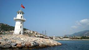 El faro en plantilla de la foto de Turquía Imagen de archivo libre de regalías