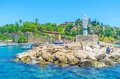 El faro en el puerto deportivo de Antalya Fotografía de archivo libre de regalías