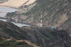 El faro en S Martín hace Oporto - Portugal Fotografía de archivo