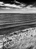 El faro Mirada artística en blanco y negro Fotografía de archivo