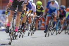 El favorable competir con del ciclista Foto de archivo