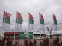 El FC Augsburg marca la tienda Fotografía de archivo