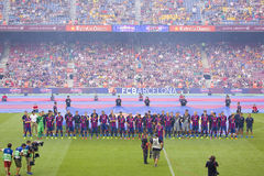 El FC Barcelona combina la presentación Fotos de archivo