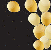El feliz cumpleaños brillante hincha el ejemplo del vector del fondo Fotografía de archivo libre de regalías