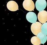 El feliz cumpleaños brillante hincha el ejemplo del vector del fondo Imagen de archivo