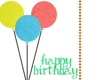 El feliz cumpleaños invita a la disposición del libro de recuerdos Imagen de archivo libre de regalías