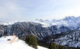 El Fellhorn en invierno Montañas, Alemania Imágenes de archivo libres de regalías