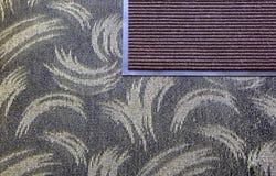 El felpudo en fondo de la alfombra Imagenes de archivo
