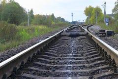 El ferrocarril Foto de archivo libre de regalías