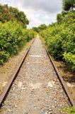 El ferrocarril abandonado Foto de archivo
